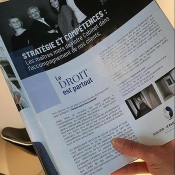 Le magazine 7 jours consacre une page à notre cabinet dans sa nouvelle édition