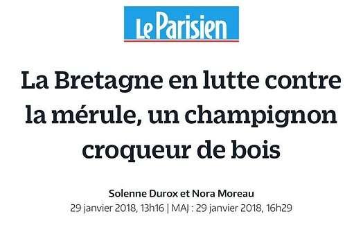 Philippe Guillotin interviewé sur les litiges Mérule dans Le Parisien du 29 janvier 2018 (cabinet d'avocats RENNES- SAINT BRIEUC) 0